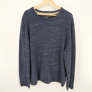 Grayers Navy Striped Yarmouth Jacquard Sweater XXL